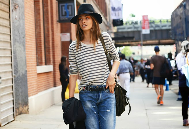 ca500bd0811 la-modella-mafia-Spring-2013-Fashion-Week-Model-Off-Duty-Street-Style -stripes-via-style