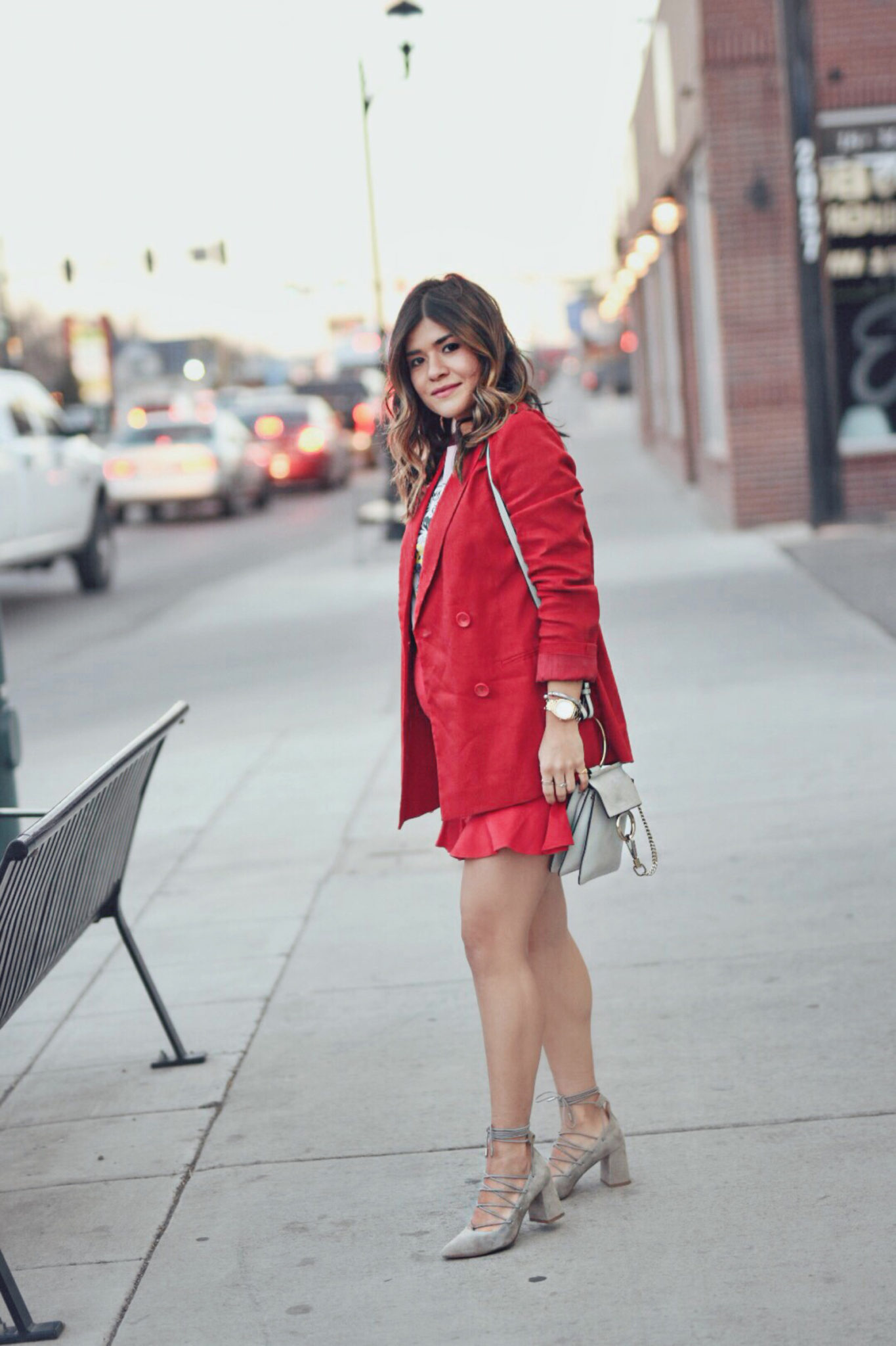 Carolina Hellal Of Chic Talk Styling Red And Pink Together For Spring How To