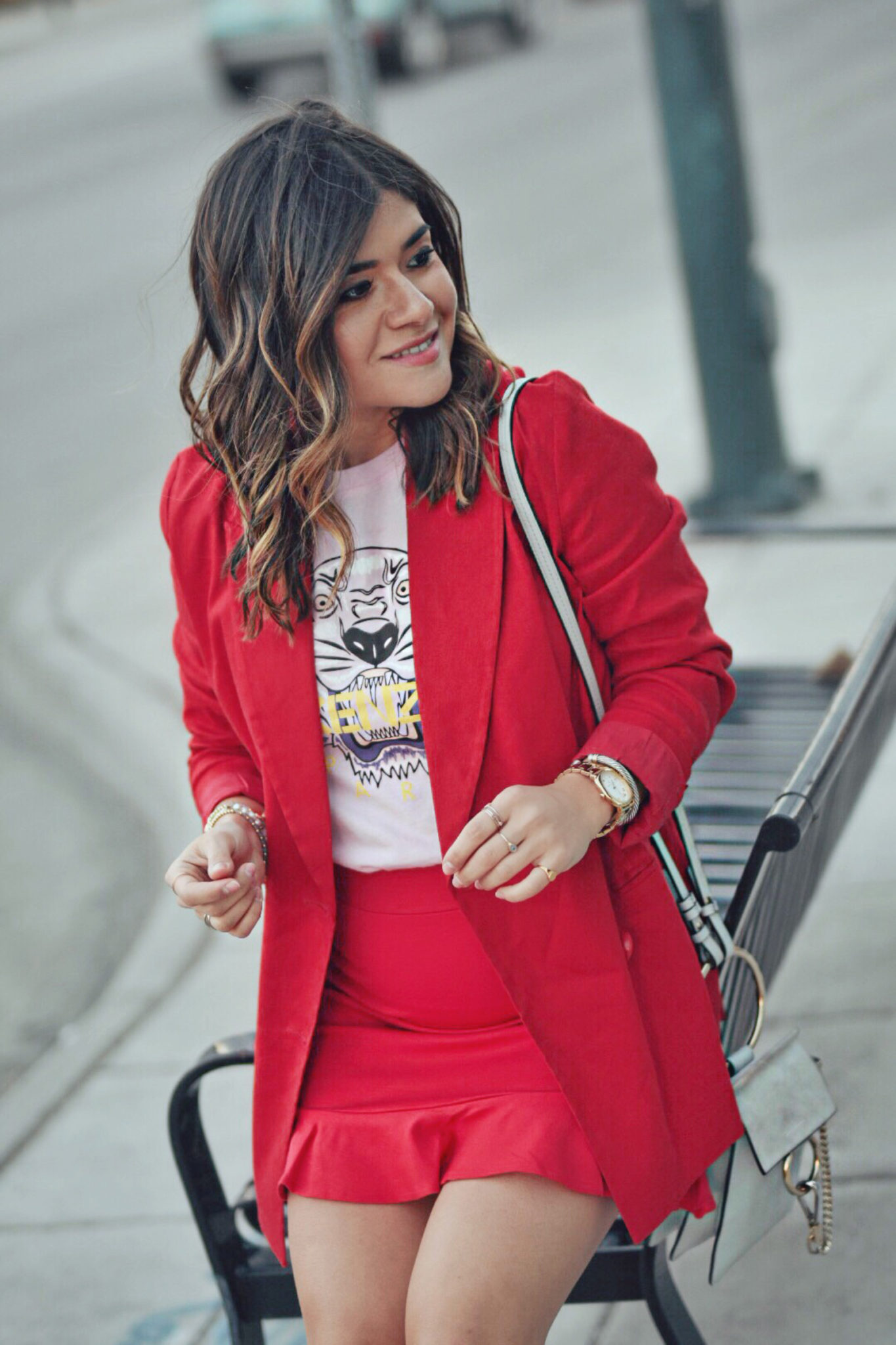 Carolina Hellal Of Chic Talk Styling Red And Pink Together For Spring How To Style